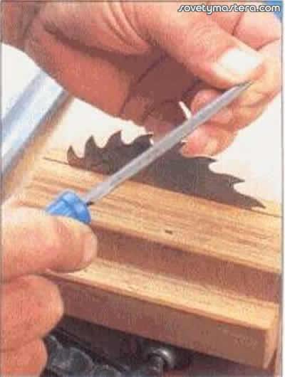Как сделать зубья на пиле